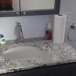 Custom bathroom construction with granite counter tops.