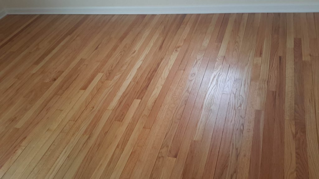 Hand-installed hardwood flooring.